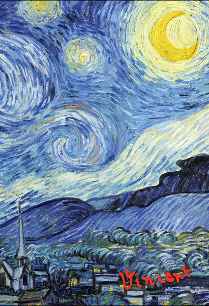 "Блокнот ""Ван Гог. Звездная ночь"" (А5) — фото, картинка"