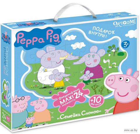 """Пазл """"Свинка Пеппа. Семья слонов"""" (24 элемента) — фото, картинка"""