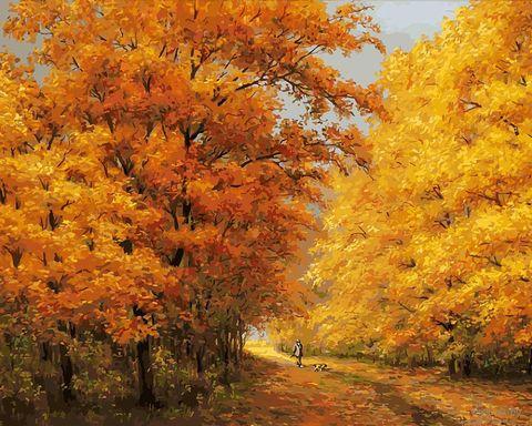 """Картина по номерам """"Осенний день"""" (400х500 мм) — фото, картинка"""