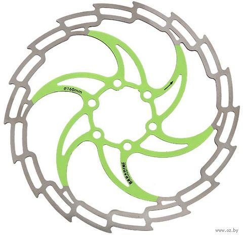"""Тормозной диск велосипедный """"DB-05D"""" (160 мм; зелёный) — фото, картинка"""