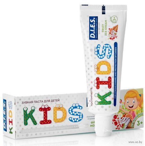 """Зубная паста детская """"Фруктовое мороженое"""" (45 г) — фото, картинка"""