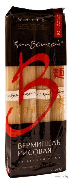 """Вермишель рисовая """"SanBonsai. Из белого риса"""" (250 г) — фото, картинка"""