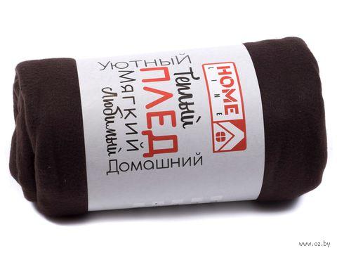 Плед (150х150 см; темный шоколад) — фото, картинка