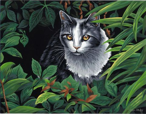"Картина по номерам ""Кот-исследователь"" (280х360 мм; арт. DMS-73-91435)"