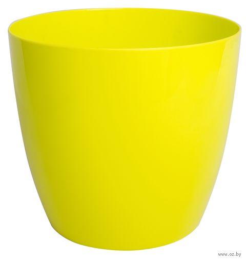 """Цветочный горшок """"Ага"""" (20 см; лимонный) — фото, картинка"""