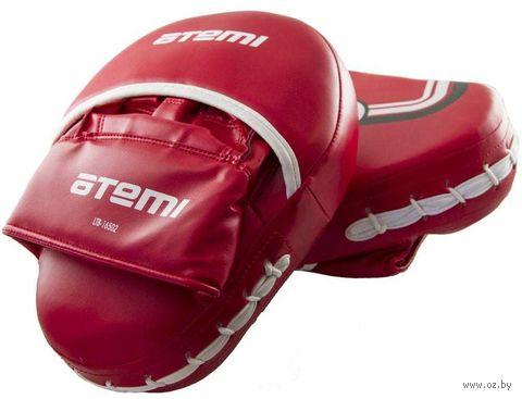 Лапы тренировочные вогнутые LTB-16501 (M; красные) — фото, картинка