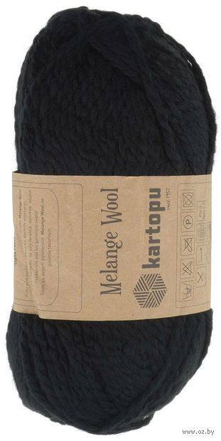 "Пряжа ""KARTOPU. Melange Wool №K940"" (100 г; 170 м; черный) — фото, картинка"