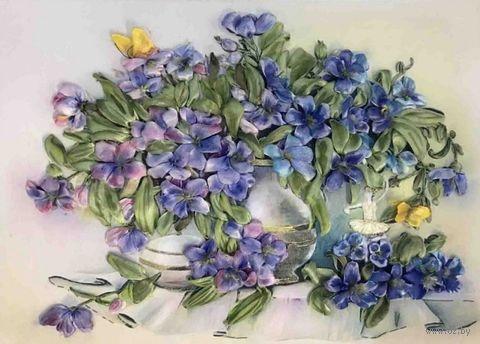 "Вышивка лентами ""Первоцветы"" (255х334 мм) — фото, картинка"