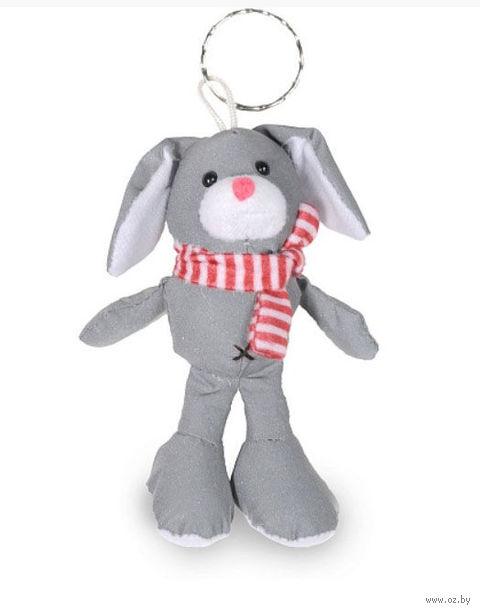 """Брелок светоотражающий """"Кролик"""" (с розовым шарфом)"""