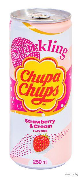 "Напиток газированный ""Chupa Chups. Клубника"" (250 мл) — фото, картинка"