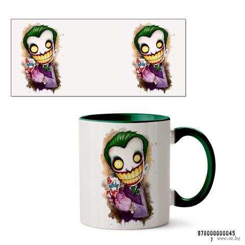 """Кружка """"Джокер из вселенной DC"""" (зеленая; арт. 0045) — фото, картинка"""