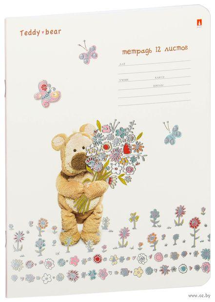 """Тетрадь в линейку """"Мишка Тедди"""" (12 листов; в ассортименте) — фото, картинка"""