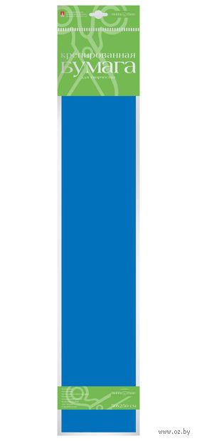 """Бумага креповая """"Флуоресцентная"""" (50х250 см; синяя) — фото, картинка"""