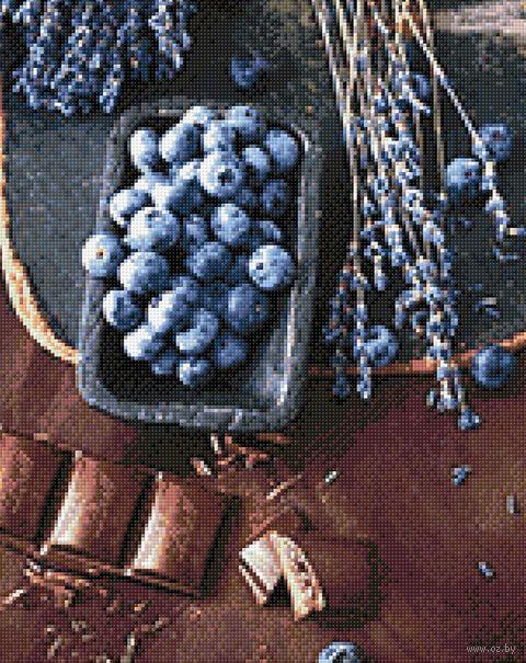 "Алмазная вышивка-мозаика ""Шоколад и голубика"" (380х480 мм) — фото, картинка"