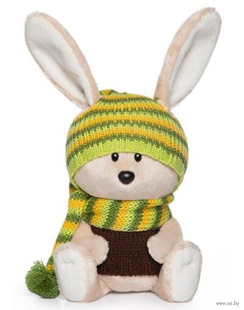 """Мягкая игрушка """"Заяц Антоша в шапочке и свитере"""" (25 см) — фото, картинка"""