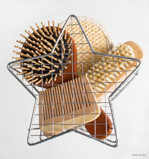 Набор для ванной в металлической подставке (5 предметов; арт. 5116-2004)
