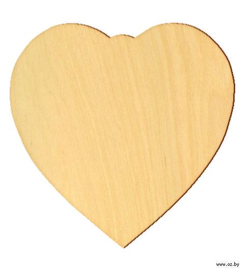 """Заготовка деревянная """"Плюшевое сердце"""" (120х120 мм)"""