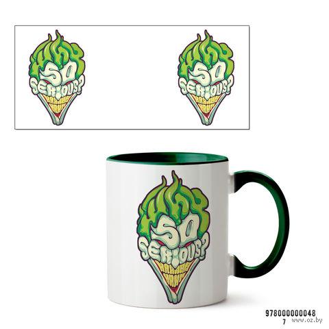 "Кружка ""Джокер. Why so serious?"" (зеленая) — фото, картинка"