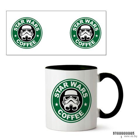 """Кружка """"Звездные войны. Star wars coffee"""" (черная) — фото, картинка"""
