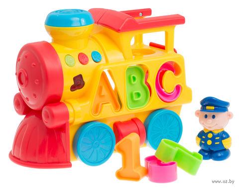 """Развивающая игрушка """"Поезд с проводником"""" (со световыми эффектами)"""