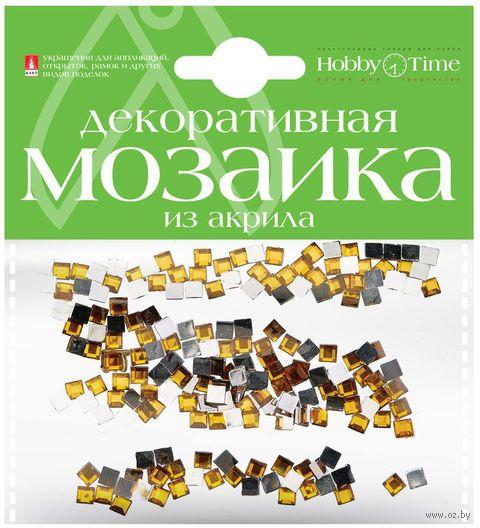 Мозаика декоративная из акрила №12 (4х4 мм; 200 шт.; темно-желтый) — фото, картинка