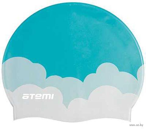 Шапочка для плавания (голубая; облака; арт. PSC413) — фото, картинка