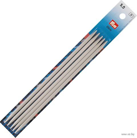 Спицы чулочные для вязания (алюминий; 5 мм; 20 см) — фото, картинка
