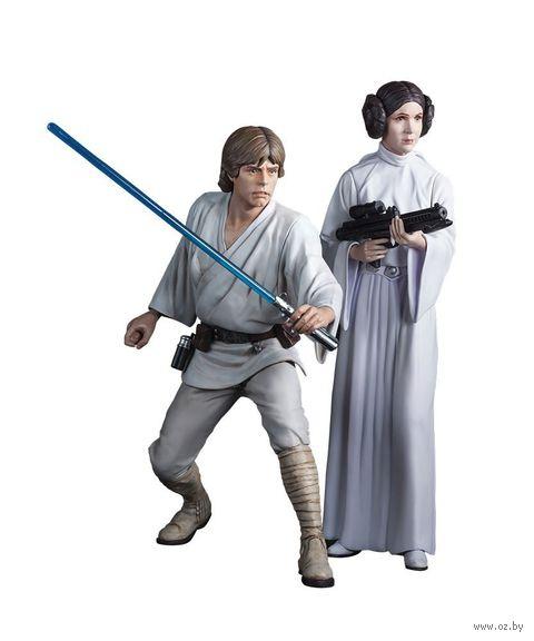 """Набор фигурок """"Звездные войны. Люк Скайуокер и принцесса Лея"""" (16 см)"""