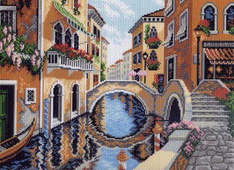 """Канва с нанесенным рисунком """"На улицах Венеции"""""""