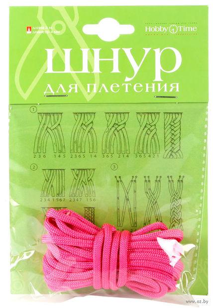 Шнур для плетения (3 м; розовый неон) — фото, картинка