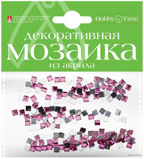 Мозаика декоративная из акрила №14 (4х4 мм; 200 шт.; фуксия) — фото, картинка