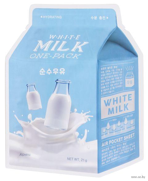 """Тканевая маска для лица """"White Milk"""" (21 г) — фото, картинка"""