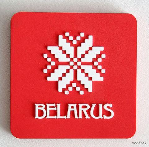 """Магнит """"Belarus"""" (красный) — фото, картинка"""