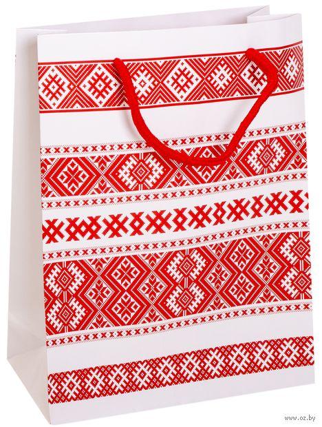 Пакет бумажный подарочный (23х27х8 см; арт. BB101380)