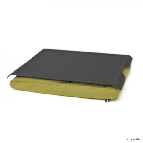 """Подставка с пластиковым подносом """"Laptray"""" (черная, оливка)"""