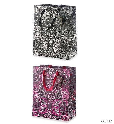 """Пакет бумажный подарочный """"Кашемир"""" (26x32,5x13 см) — фото, картинка"""