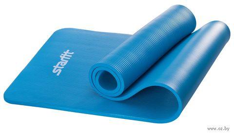 Коврик для йоги FM-301 (183x58x1,2 см; синий) — фото, картинка