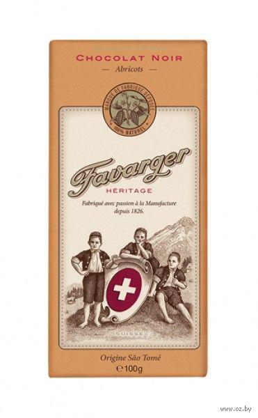 "Шоколад горький ""Favarger. Абрикоc"" (100 г) — фото, картинка"