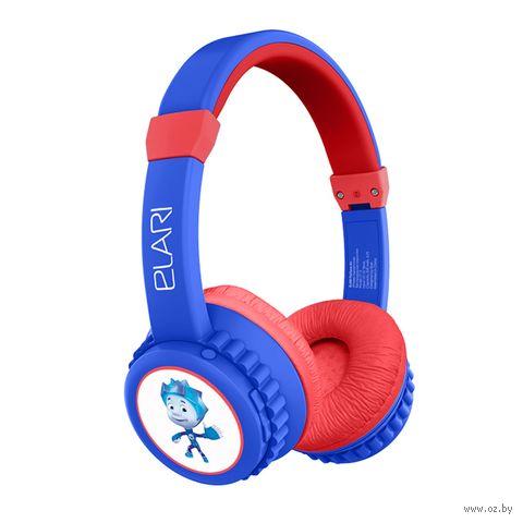 Наушники беспроводные детские Elari FixiTone Air (сине-красные) — фото, картинка