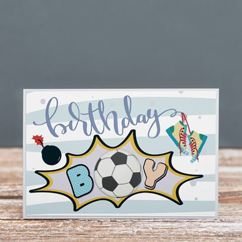 "Открытка ""Birthday BOY"" (арт. 19-P-439) — фото, картинка"