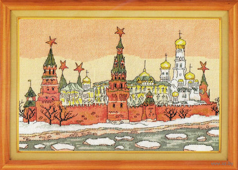 "Вышивка крестом ""Москва"" (300х210 мм) — фото, картинка"