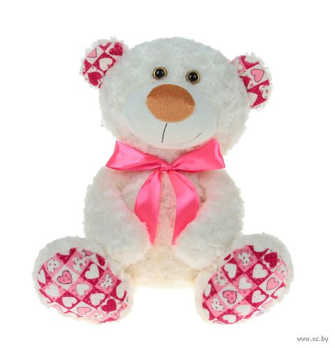 """Мягкая игрушка """"Медвежонок Ник"""" (34 см; белый) — фото, картинка"""