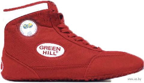 Обувь для борьбы GWB-3052/GWB-3055 (р. 45; красно-белая) — фото, картинка