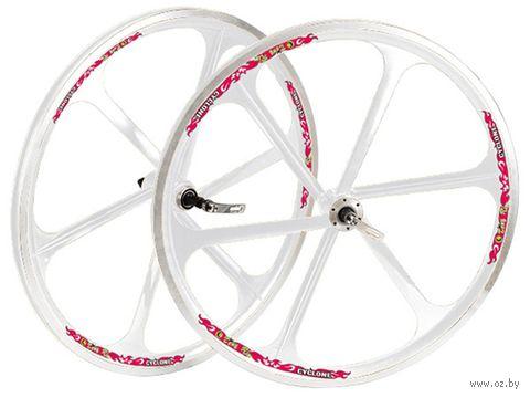 """Комплект велосипедных колёс """"TAFD/THREAD DISK-6000"""" (белый) — фото, картинка"""