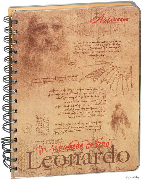 """Еженедельник недатированный """"Леонардо да Винчи. Графика"""" (180x220 мм)"""