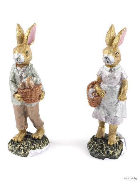 """Статуэтка пластмассовая """"Кролик"""" (5,7*5,5*18 см, арт. APF614270)"""