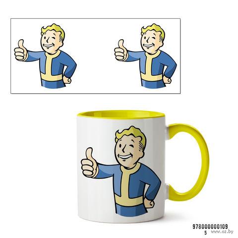"""Кружка """"Пип-бой из Fallout"""" (желтая; арт. 109) — фото, картинка"""