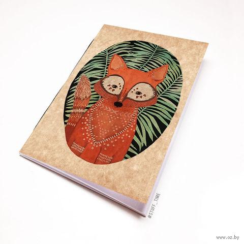 """Блокнот крафт """"Лисичка"""" (А7; арт. 307) — фото, картинка"""