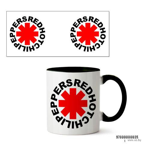 """Кружка """"Red Hot Chili Peppers"""" (035, черная)"""