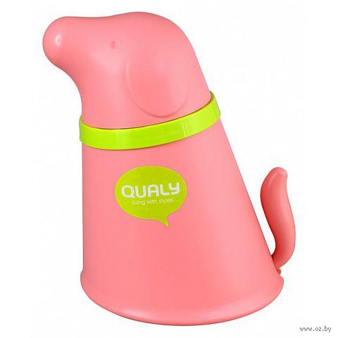 """Контейнер и миска для собаки """"Pupp"""" (розовая)"""